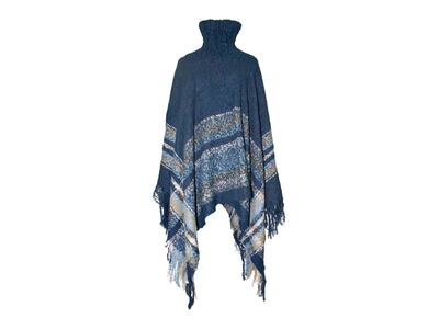 Accessories Poncho med Hals Navy