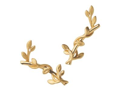 byBiehl Jungle Ivy Stik Earring Gold