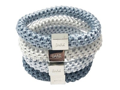 DARK Fat Hairties Blue/Silver