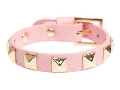 DARK Leather Stud Brace Pale Pink