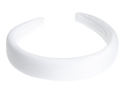 DARK Velvet Hairband Broad White